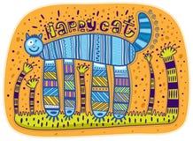 Chat heureux Image libre de droits