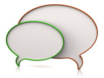 Chat icon. Isolated on white background Royalty Free Stock Photo