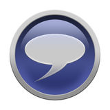 Chat icon button. Glossy chat icon button isolated over white background Royalty Free Stock Images