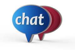 Chat icon 3D Royalty Free Stock Photography