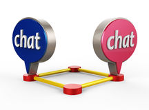 Chat icon 3D Royalty Free Stock Photo