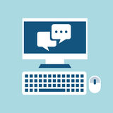 Chat icon Royalty Free Stock Image