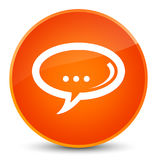 Chat icon elegant orange round button Royalty Free Stock Image
