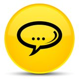 Chat icon special yellow round button Royalty Free Stock Photography