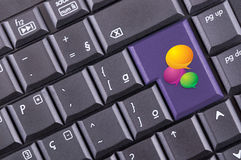 Chat icon on keyboard Royalty Free Stock Photos