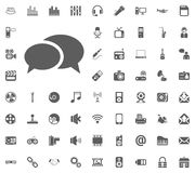 Chat icon. Media, Music and Communication vector illustration icon set. Set of universal icons. Set of 64 icons.  vector illustration