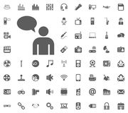 Chat icon. Media, Music and Communication vector illustration icon set. Set of universal icons. Set of 64 icons.  Stock Photography