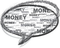 Chat icon  with money pattern Stock Photo
