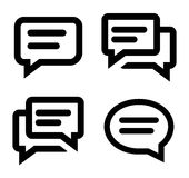 Chat icon set Royalty Free Stock Photo