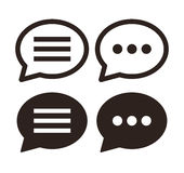 Chat icon set Royalty Free Stock Image