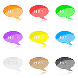 Chat icons Royalty Free Stock Image