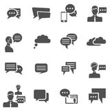 Chat icons black Stock Photo