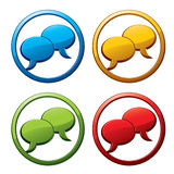 Chat icons. Royalty Free Stock Photography