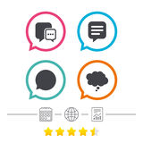 Chat icons. Comic speech bubble signs. Think. Stock Photography