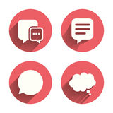 Chat icons. Comic speech bubble signs. Think Royalty Free Stock Images