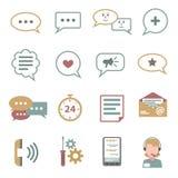 Chat Icons Flat Set Royalty Free Stock Image