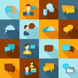 Chat icons flat Stock Photography