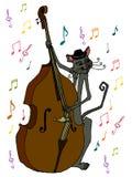 Chat illustré de musicien Photo libre de droits