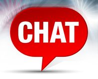 Chat Red Bubble Background royalty free illustration