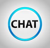 Chat Round Blue Push Button royalty free illustration