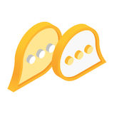 Chat isometric 3d icon Royalty Free Stock Image
