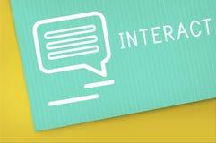 Chat-Kommunikations-on-line-Blog-Anteil-Konzept Stockbild