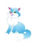 Chat à la maison bleu de chat Photo libre de droits