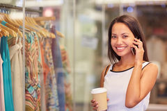 Chat later, gotta shop first! Stock Images
