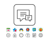 Chat line icon. Speech bubble sign. Stock Photography