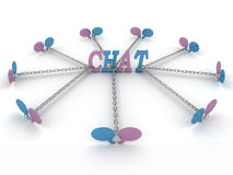 Chat linked chain Stock Photos