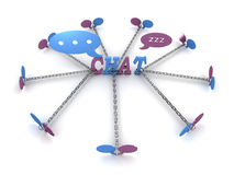 Chat linked chain Royalty Free Stock Photography