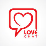 Chat for love concept Royalty Free Stock Images