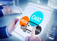Chat Media Digital Chatting Communication Connect Concept Royalty Free Stock Photo