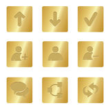 Chat Media Icons | Bronze Square 01. Professional set for your website, application, or presentation royalty free illustration