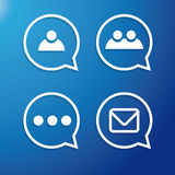 Chat or Message Flat Icons vector Royalty Free Stock Photos