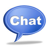 Chat Message Represents Communicate Networking And Call Royalty Free Stock Images