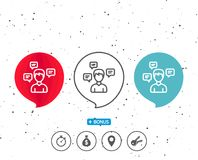Chat Messages line icon. Conversation sign. Royalty Free Stock Photos