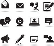 Chat and messaging icons. Set Royalty Free Stock Image