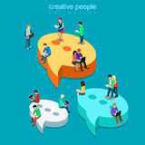 Chat messaging message bubbles flat isometric vector 3d Stock Images