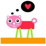Chat mignon avec le coeur rouge ENV 10 illustration libre de droits