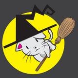 Chat mignon de sorcière Image stock