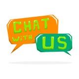 Chat mit uns Lizenzfreie Stockbilder