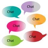 Chat-/Mitteilungsblasen Lizenzfreies Stockfoto