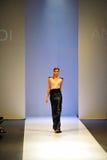 Chat modèle marchant pendant le festival de mode d'Audi Photographie stock