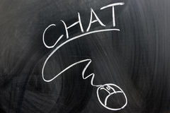 Chat and mouse Royalty Free Stock Photo