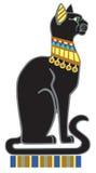 Chat noir égyptien Photo stock