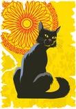 Chat noir Image libre de droits