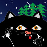 Chat noir d'amusement illustration libre de droits
