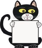 Chat noir de dessin animé Images stock