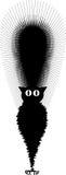 Chat noir effrayé image libre de droits
